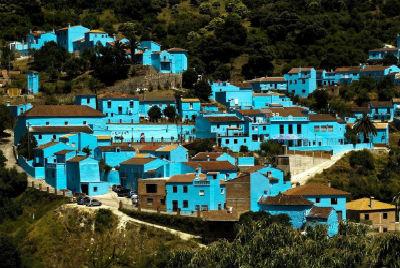 синяя деревня Хускар