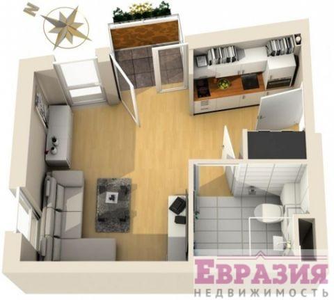 Однокомнатная квартира в германии недвижимость в оаэ дубай цены